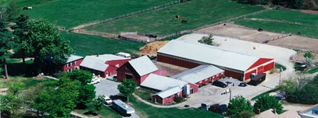 aerial view of Pine Fall Farm
